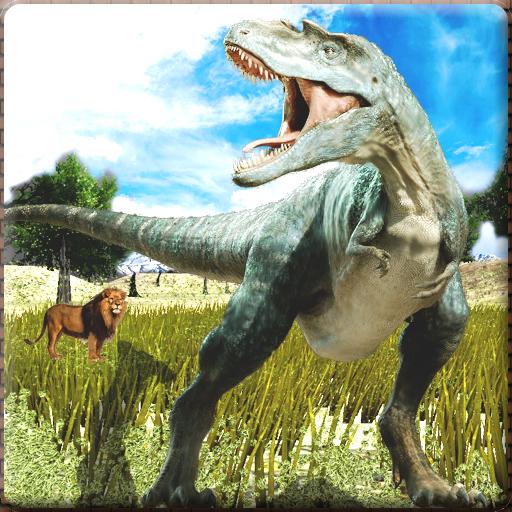 迪诺攻击动物模拟器 模擬 LOGO-玩APPs