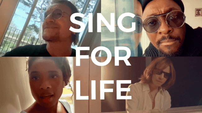 U2 主唱Bono 攜手 Will.i.am 、 Jennifer Hudson 和 YOSHIKI 推新曲〈 Sing for Life 〉