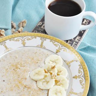Classic Banana Walnut Steel Cut Oats (High Protein, High Fiber, Healthy) Recipe