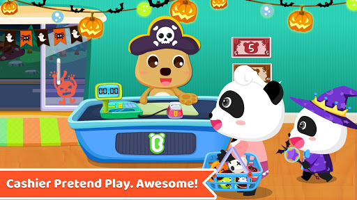 Baby Panda's Supermarket-Halloween Party Shopping  5