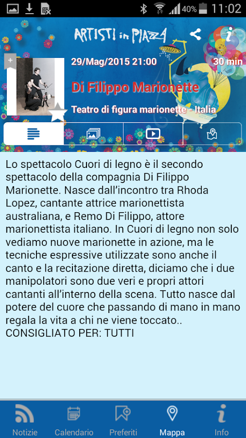 Artisti in Piazza 2016- screenshot