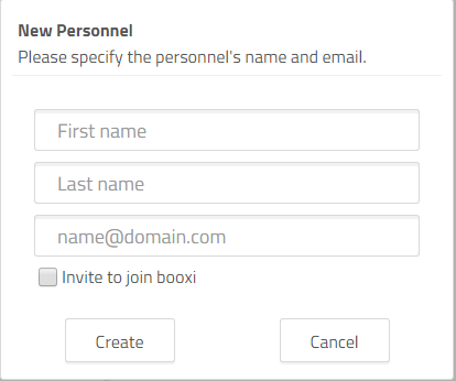 invite a personnel to use booxi