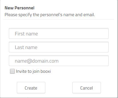 invite a personnel to use booxi