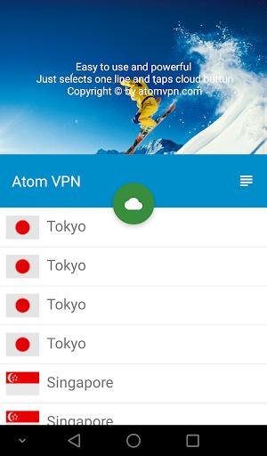 Atom VPN (100% free) 3.1.1 screenshots 3