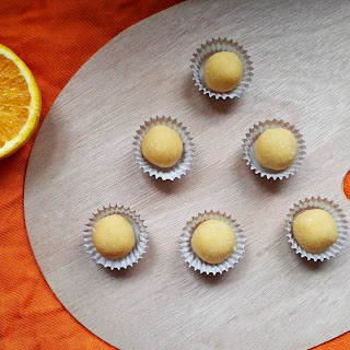 Cacao Butter Orange Truffles.