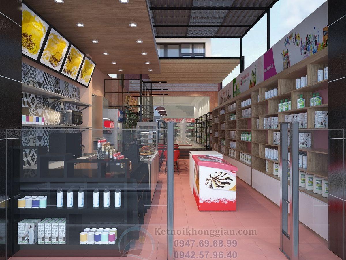 thiết kế siêu thị mini cửa hàng tạp hóa