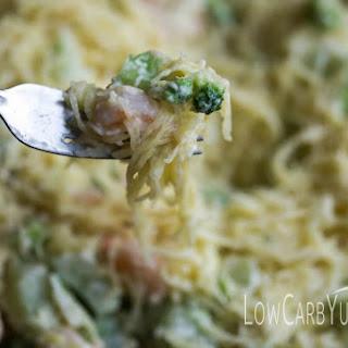 Shrimp and Broccoli Spaghetti Squash Alfredo