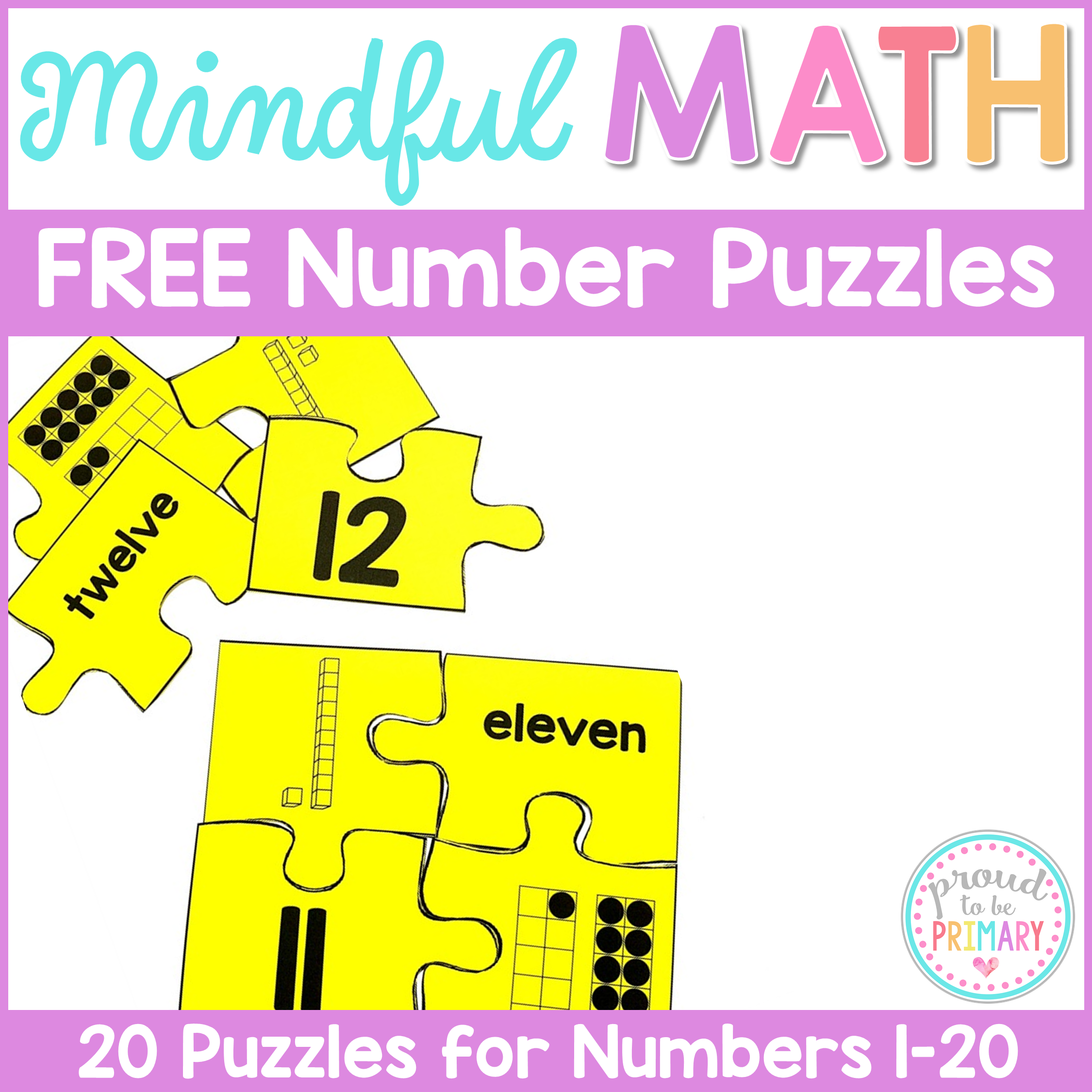 Building number sense to 20 proud to be primary free number puzzles to 20 biocorpaavc Gallery