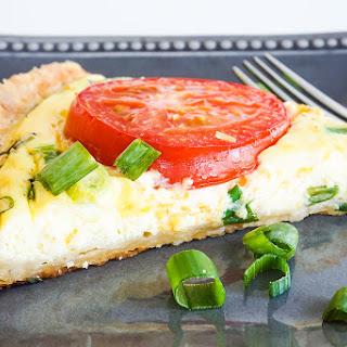 Cheddar, Tomato & Scallion Quiche