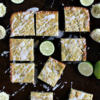 Coconut Avocado Lime Bars