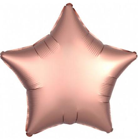 Folieballong Satinstjärna rosékoppar, 48 cm