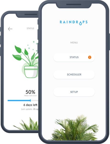 Raindrops - a web app that uses IoT for plant monitoring