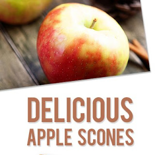 Whole Wheat Cinnamon Apple Scones