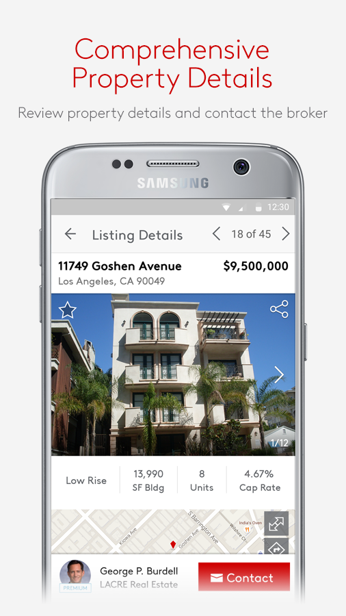Screenshots of LoopNet Commercial Real Estate for iPhone