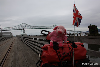 Photo: (Year 2) Day 347 - The Delightful Pippa Pig at the Megler Bridge in Astoria