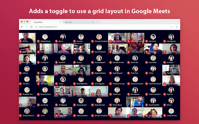 Google Meet Grid View Edge Extension