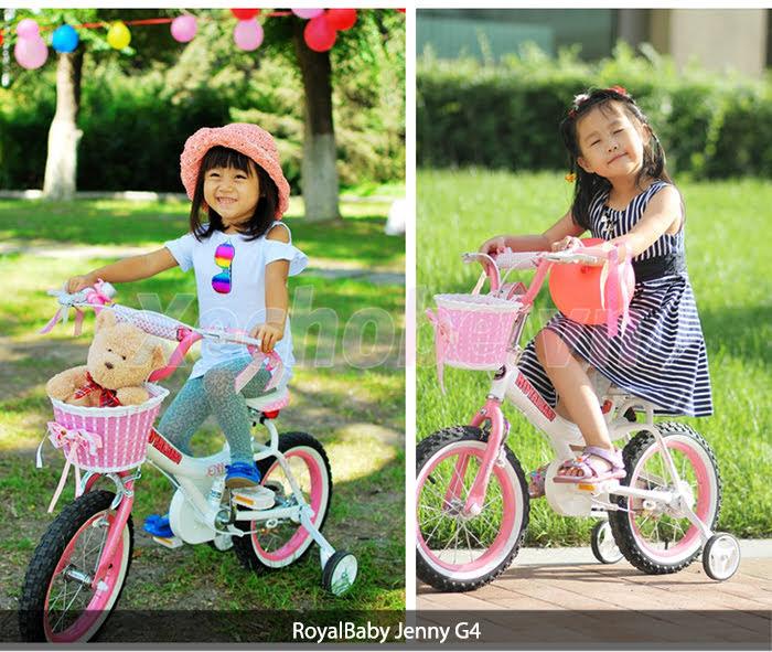 xe đạp cho bé màu hồng