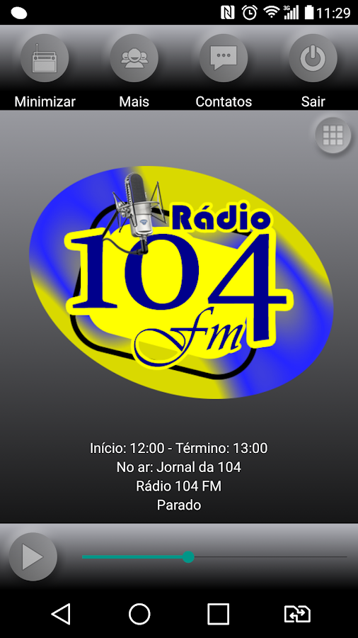 Rádio 104 FM- screenshot