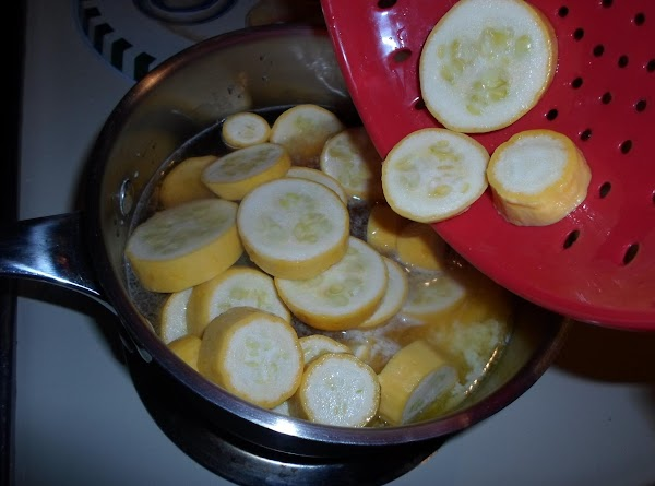 Add squash to saucepan and stir about twice, to mix the sugar, vanilla and...