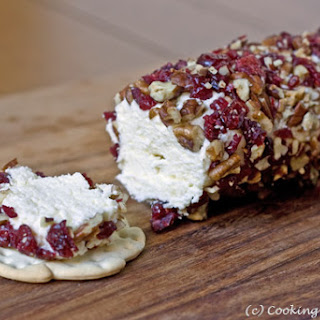 Holiday Cheese Log with Cranberries & Pecans
