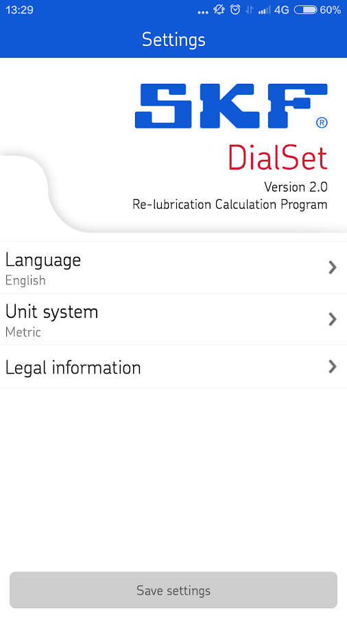 SKF DialSet- screenshot