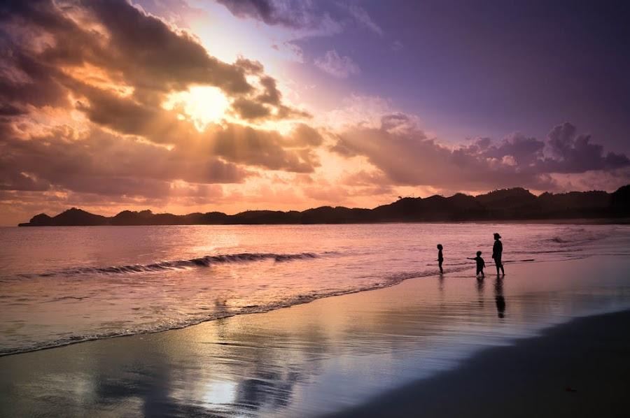 Sunset at Bajul Mati Beach Malang-East Java by Adi Bagus Ramadian Kusuma - Landscapes Beaches
