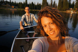 Photo: Tara and me in the canoe while visiting the family cabin in Oregon's Blue Mountains.