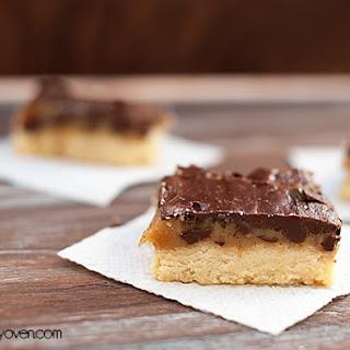 Chocolate Caramel Shortbread Bars.