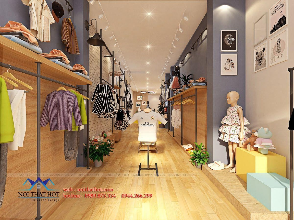 thiết kế shop thời trang trẻ em 24.baby 4