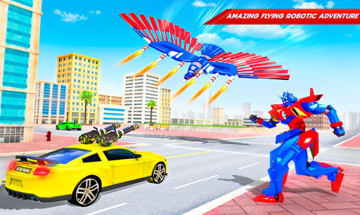 Flying Police Eagle Bike Robot Hero: Robot Games 29 screenshots 3