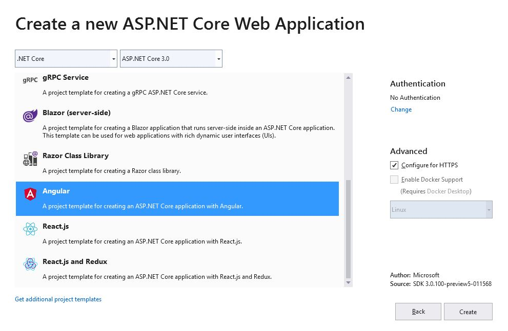 How to add Authentication to Angular 7 app using Asp Net Core 3 in