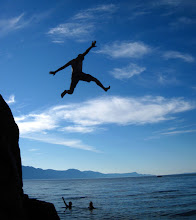 Photo: A friend takes to the air at Smugglers Cove Provincial Park, BC, Canada