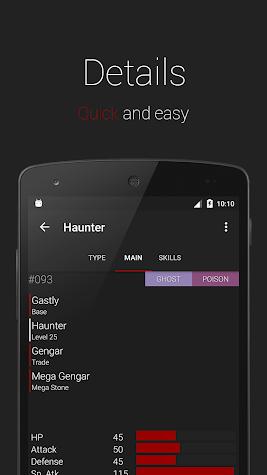 Dexter - Lightweight Pokedex Screenshot