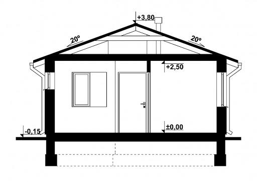G250 - Budynek rekreacji indywidualnej - Przekrój