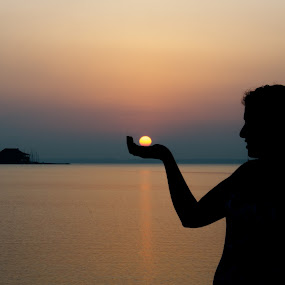 Sun in my hand by Shashank Shekhar - People Portraits of Women