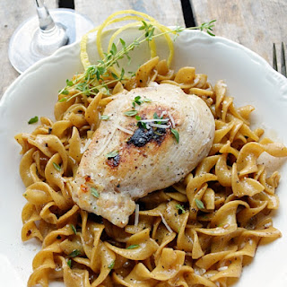 Chicken with Lemon-Thyme Egg Noodles