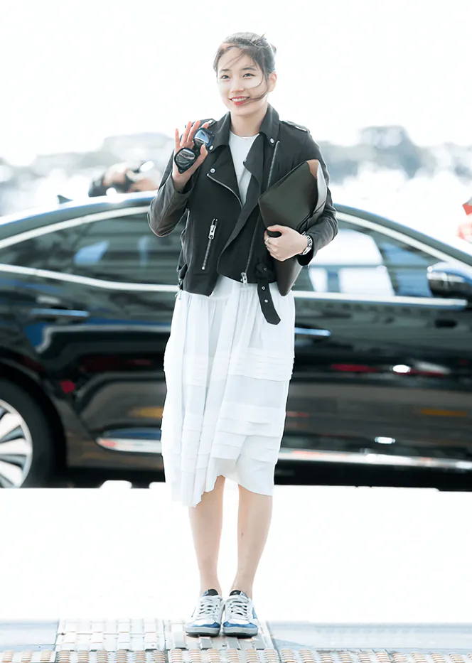gambar jaket kulit korea wanita