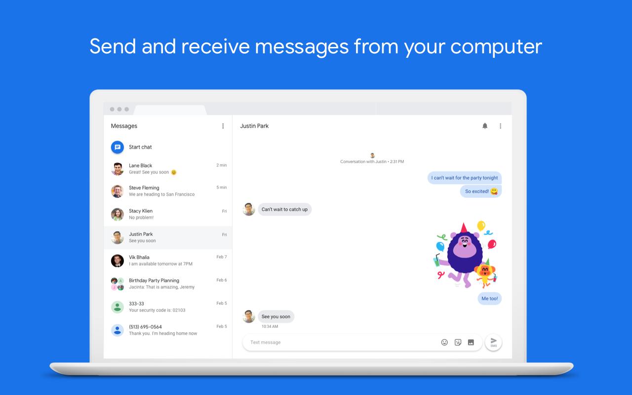 Messages screenshots