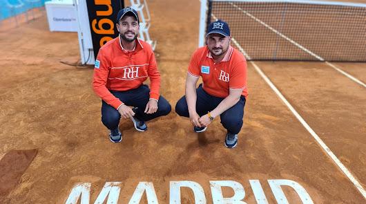 Antonio Vargas y José Miguel Alfonso, en el Mutua Madrid Open