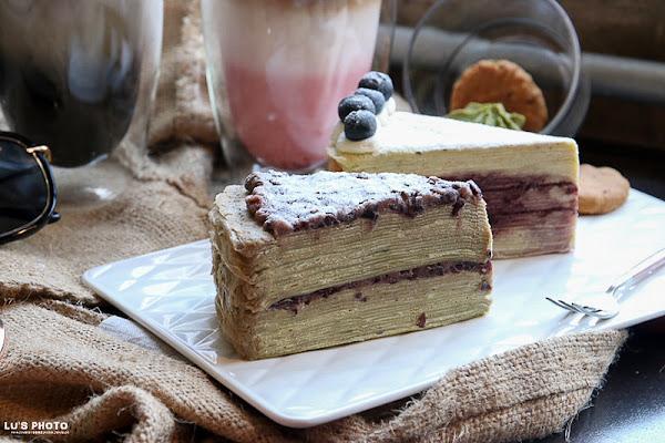 甜點飲品 千層蛋糕堆疊的幸福感,柔軟細緻~花樓二店限定風味!「花樓follow coffee green」民權路 永樂市場 台南甜點 
