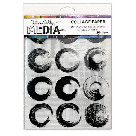 Dina Wakley Media Tissue Pack 7.5X10 20/Pkg - Elements