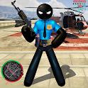 US Police Stickman Rope Hero Strange Gangster icon