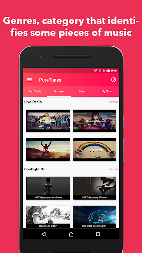 PureTunes - Free  Floating Youtube Music Videos 1.0.4 screenshots 2