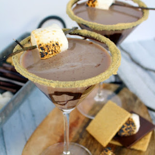 Double Chocolate S'mores Martini.