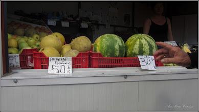 Photo: Pepene galben (Cucumis melo) si Pepene verde (Citrullus lanatus) - din Piata Centrala Agroalimentara - 2019.06.28 - în Turda.