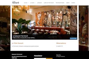 tres honore bar website builder responsive