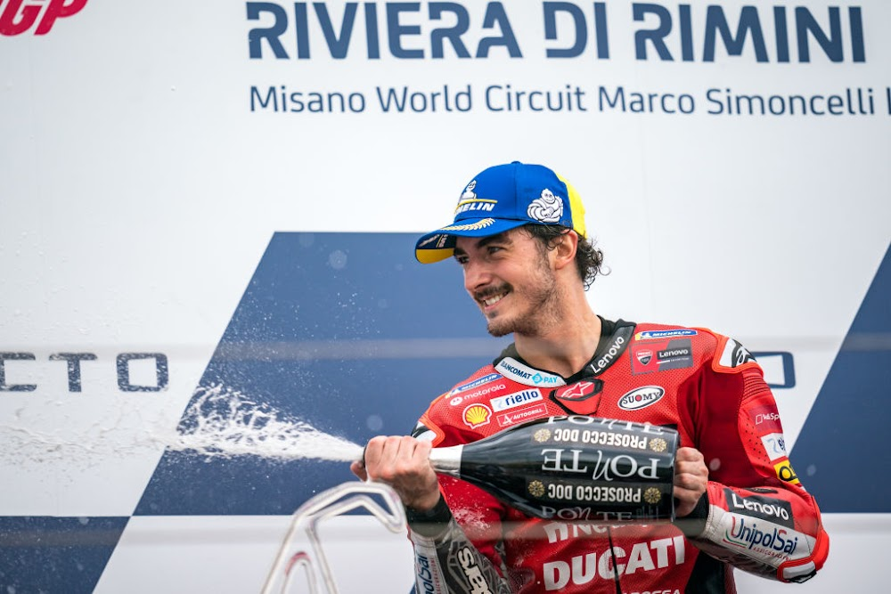 Bagnaia holds off Quartararo to win at San Marino