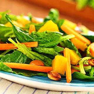 Easy Thai Tossed Salad with Fresh Mango (& Basil Dressing)
