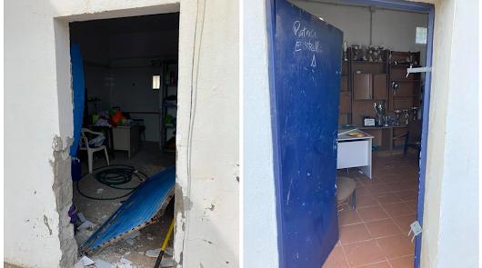 Vándalos destrozan las instalaciones deportivas de Cabo de Gata