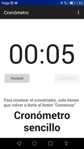 Cronómetro gratuito Español
